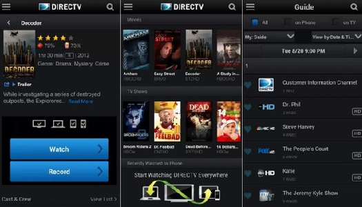 DirectV on Android App